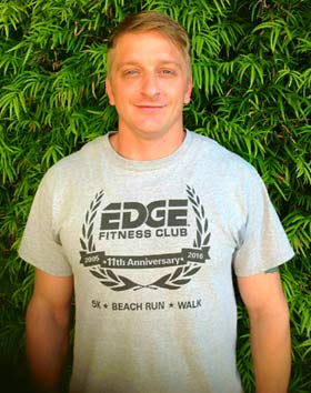 Sean is a personal trainer at Edge Fitness Club in Oxnard CA
