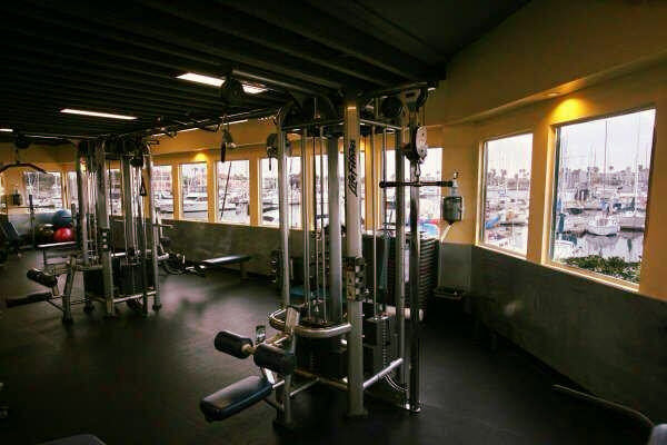 Weight lifting room at Edge Fitness Club in Oxnard, CA